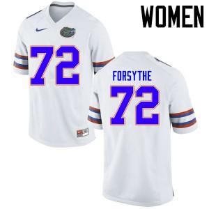 Women Florida Gators #72 Stone Forsythe College Football Jerseys White 232889-559