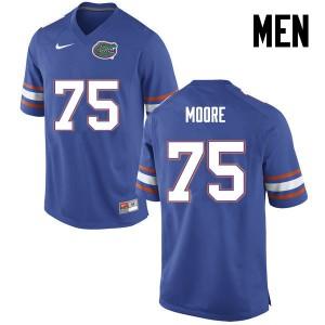 Men Florida Gators #75 TJ Moore College Football Blue 971394-723