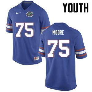 Youth Florida Gators #75 TJ Moore College Football Blue 346923-266