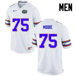 Men Florida Gators #75 TJ Moore College Football White 635758-996