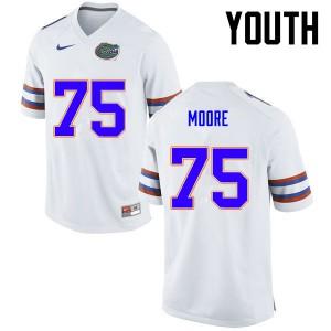 Youth Florida Gators #75 TJ Moore College Football White 637014-339