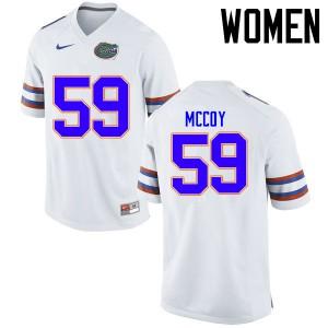 Women Florida Gators #59 T.J. McCoy College Football Jerseys White 604014-540