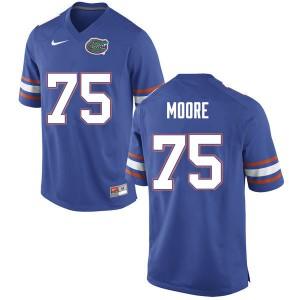 Men #75 T.J. Moore Florida Gators College Football Jerseys Blue 405457-864