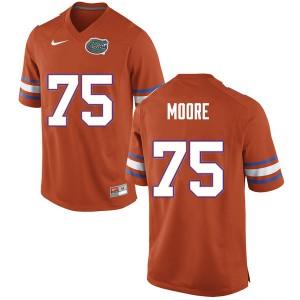 Men #75 T.J. Moore Florida Gators College Football Jerseys Orange 569496-215