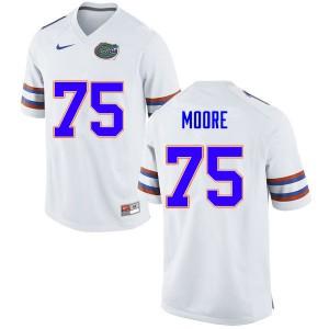 Men #75 T.J. Moore Florida Gators College Football Jerseys White 567720-970