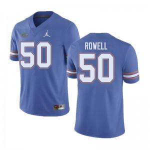 Jordan Brand Men #50 Tanner Rowell Florida Gators College Football Jerseys Blue 495816-593