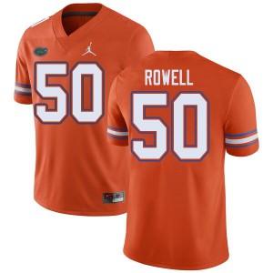 Jordan Brand Men #50 Tanner Rowell Florida Gators College Football Jerseys Orange 349909-487