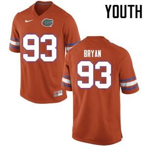 Youth Florida Gators #93 Taven Bryan College Football Jerseys Orange 540843-335