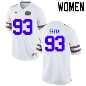 Women Florida Gators #93 Taven Bryan College Football Jerseys White 830564-622