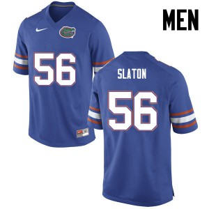 Men Florida Gators #56 Tedarrell Slaton College Football Blue 293033-876