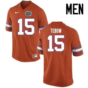 Men Florida Gators #15 Tim Tebow College Football Jerseys Orange 889096-218