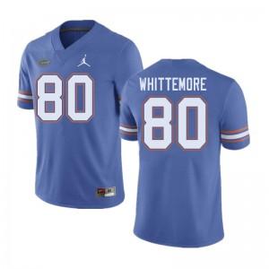 Jordan Brand Men #80 Trent Whittemore Florida Gators College Football Jerseys Blue 456944-334