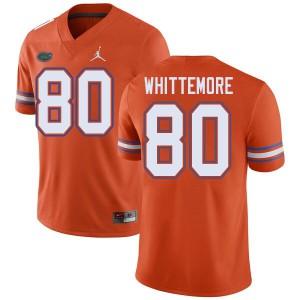 Jordan Brand Men #80 Trent Whittemore Florida Gators College Football Jerseys Orange 967322-756