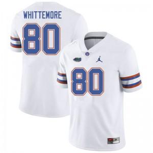 Jordan Brand Men #80 Trent Whittemore Florida Gators College Football Jerseys White 542178-178