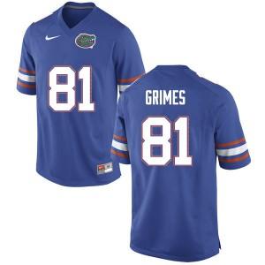 Men #81 Trevon Grimes Florida Gators College Football Jerseys Blue 864484-279