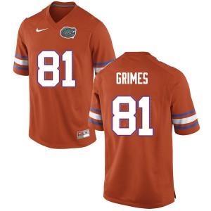 Men #81 Trevon Grimes Florida Gators College Football Jerseys Orange 386146-289