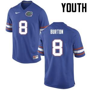 Youth Florida Gators #8 Trey Burton College Football Blue 440697-668