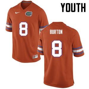 Youth Florida Gators #8 Trey Burton College Football Orange 943934-300