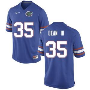 Men #35 Trey Dean III Florida Gators College Football Jerseys Blue 754157-973
