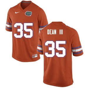 Men #35 Trey Dean III Florida Gators College Football Jerseys Orange 559330-442