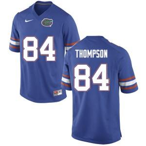 Men #84 Trey Thompson Florida Gators College Football Jerseys Blue 307934-196