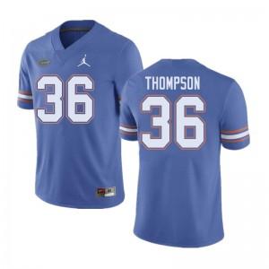 Jordan Brand Men #36 Trey Thompson Florida Gators College Football Jerseys Blue 363986-457