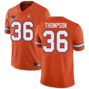 Jordan Brand Men #36 Trey Thompson Florida Gators College Football Jerseys Orange 699391-761