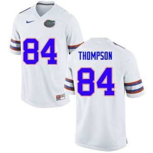 Men #84 Trey Thompson Florida Gators College Football Jerseys White 927024-487