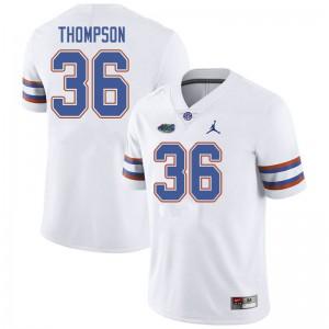 Jordan Brand Men #36 Trey Thompson Florida Gators College Football Jerseys White 786227-332