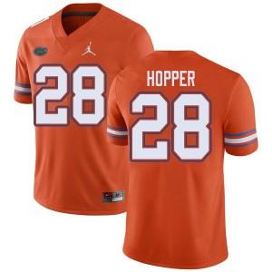Jordan Brand Men #28 Ty'Ron Hopper Florida Gators College Football Jerseys Orange 124202-836