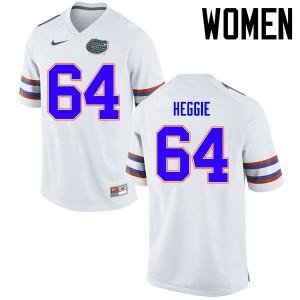 Women Florida Gators #64 Tyler Jordan College Football Jerseys White 782090-126