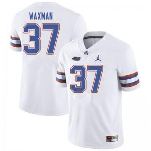 Jordan Brand Men #37 Tyler Waxman Florida Gators College Football Jerseys White 131963-161