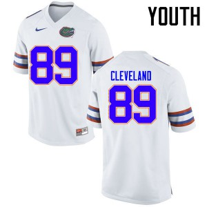 Youth Florida Gators #89 Tyrie Cleveland College Football Jerseys White 694063-927