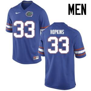 Men Florida Gators #33 Tyriek Hopkins College Football Jerseys Blue 565777-780