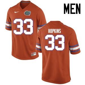 Men Florida Gators #33 Tyriek Hopkins College Football Jerseys Orange 457485-527