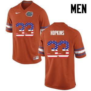 Men Florida Gators #33 Tyriek Hopkins College Football USA Flag Fashion Orange 604427-731