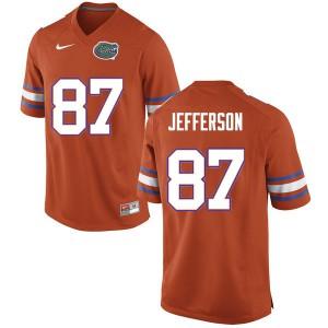 Men #87 Van Jefferson Florida Gators College Football Jerseys Orange 575327-925