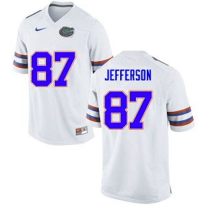 Men #87 Van Jefferson Florida Gators College Football Jerseys White 348360-305
