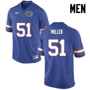 Men Florida Gators #51 Ventrell Miller College Football Blue 988810-630