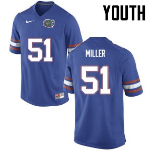 Youth Florida Gators #51 Ventrell Miller College Football Blue 557465-200