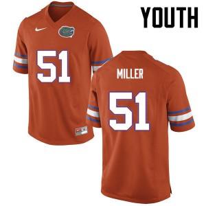Youth Florida Gators #51 Ventrell Miller College Football Orange 912280-899