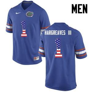 Men Florida Gators #1 Vernon Hargreaves III College Football USA Flag Fashion Blue 708669-368