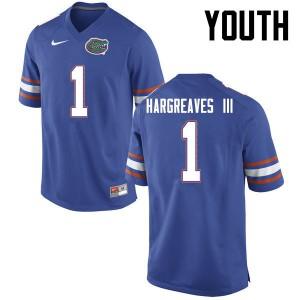 Youth Florida Gators #1 Vernon Hargreaves III College Football Blue 306215-687
