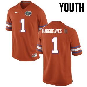 Youth Florida Gators #1 Vernon Hargreaves III College Football Orange 259481-267