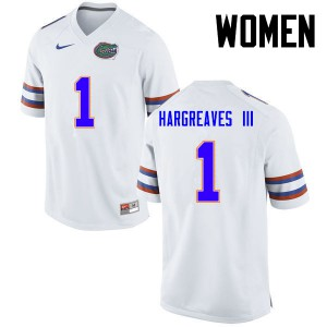 Women Florida Gators #1 Vernon Hargreaves III College Football White 802367-402