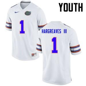 Youth Florida Gators #1 Vernon Hargreaves III College Football White 593114-152