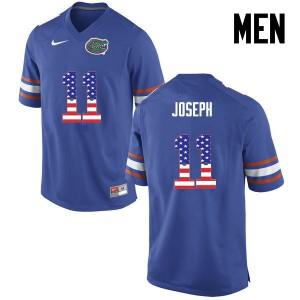 Men Florida Gators #11 Vosean Joseph College Football USA Flag Fashion Blue 466635-983