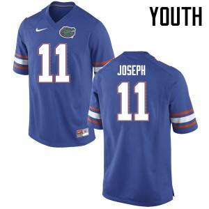 Youth Florida Gators #11 Vosean Joseph College Football Jerseys Blue 425773-168