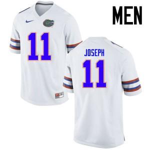Men Florida Gators #11 Vosean Joseph College Football Jerseys White 824268-188