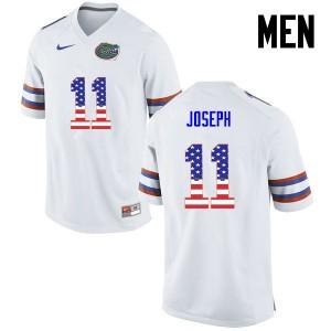 Men Florida Gators #11 Vosean Joseph College Football USA Flag Fashion White 539133-989
